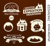 mountain logo and label set ...   Shutterstock .eps vector #246564223