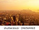 new york city skyline with... | Shutterstock . vector #246564463