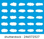 vector illustration of clouds... | Shutterstock .eps vector #246572527