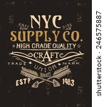 vintage typography for apparel 3 | Shutterstock .eps vector #246575887