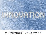 the word innovation made of... | Shutterstock . vector #246579547
