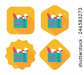 shopping bag flat icon with... | Shutterstock .eps vector #246583273