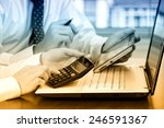 business accounting  | Shutterstock . vector #246591367