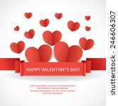 valentine's day greeting card... | Shutterstock .eps vector #246606307