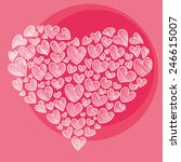 design template    heart for... | Shutterstock .eps vector #246615007