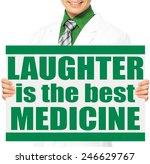 a doctor holding a conceptual... | Shutterstock . vector #246629767