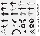 arrow sign icon set | Shutterstock .eps vector #246633013