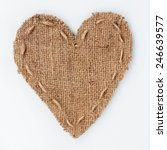 Symbolic Heart Of Burlap Lies...
