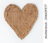 symbolic heart of burlap lies... | Shutterstock . vector #246639577