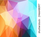 abstract triangles pattern... | Shutterstock .eps vector #246648097