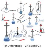 hookah icon collection  nargile ... | Shutterstock .eps vector #246655927