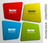 Origami paper infographic colorful banners set. Design shape. Vector label tag. | Shutterstock vector #246659053