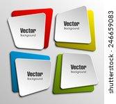 origami paper infographic... | Shutterstock .eps vector #246659083
