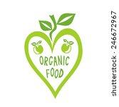 organic food heart vector... | Shutterstock .eps vector #246672967
