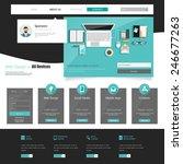 business flat website template...
