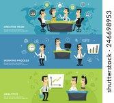 office work team creative... | Shutterstock .eps vector #246698953