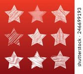 star shape with red background | Shutterstock .eps vector #246699193