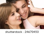 close up of happy couple in... | Shutterstock . vector #24670453