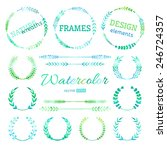 hand drawn nature wreaths ... | Shutterstock .eps vector #246724357