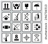 packaging symbols  this way up  ... | Shutterstock .eps vector #246736513