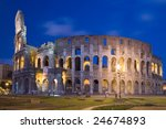 night scene from colosseum at... | Shutterstock . vector #24674893
