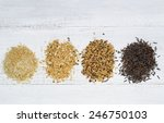 Top View Of Various Rice Types...
