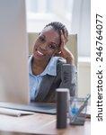 beautiful young african... | Shutterstock . vector #246764077