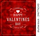 happy valentine's day greeting... | Shutterstock .eps vector #246776143