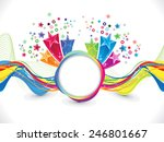 abstract artistic colorful wave ...   Shutterstock .eps vector #246801667