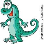 lizard | Shutterstock .eps vector #246806353