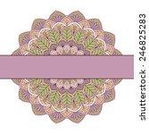 floral oriental pattern | Shutterstock .eps vector #246825283
