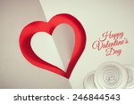 valentines day background paper ... | Shutterstock . vector #246844543
