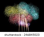 Variety Of Colors Mix Firework...