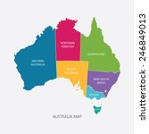 Australia Map Color With...