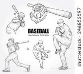 illustration of baseball. hand...   Shutterstock .eps vector #246853597