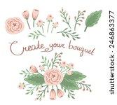 hand drawn vintage floral...   Shutterstock .eps vector #246863377