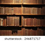 wooden bookshelf with antique... | Shutterstock . vector #246871717