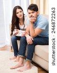 portrait of frustrated couple... | Shutterstock . vector #246872263