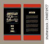 anniversary invitation card | Shutterstock .eps vector #246872977