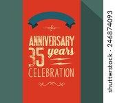 vector anniversary card | Shutterstock .eps vector #246874093