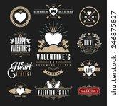 retro vintage insignias or... | Shutterstock .eps vector #246875827