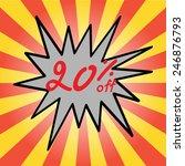sale 20  text | Shutterstock .eps vector #246876793