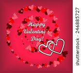 happy valentine's day heart... | Shutterstock .eps vector #246885727