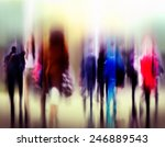 business people rush hour... | Shutterstock . vector #246889543