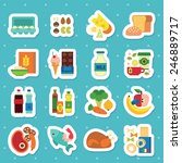 food icon set | Shutterstock .eps vector #246889717