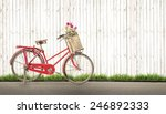 Bicycle Vintage With Bouquet...
