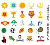 background with sport and prize ... | Shutterstock .eps vector #246893317
