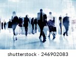 business people rush hour... | Shutterstock . vector #246902083