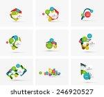 set of step infographics... | Shutterstock .eps vector #246920527