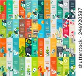 mega collection of flat web... | Shutterstock .eps vector #246920587